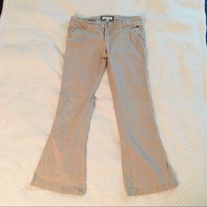 Abercrombie & Fitch khaki flare pants